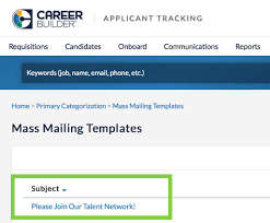 how to create mass mailing templates in applicant tracking