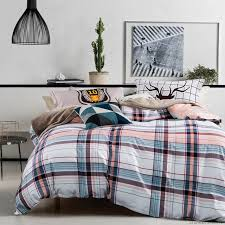 black and white striped duvet covers pink and blue plaid sets