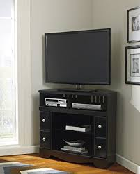 Amazon Fireplace Tv Stand by Amazon Com Shay Black Corner Tv Stand Fireplace Opt Electronics