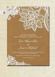 shabby chic wedding invitations lace wedding invitation kraft shabby chic rustic wedding white