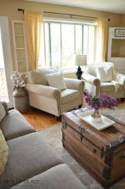 Country Style Living Room Furniture Modern Living Room Interior With Design Furniture Stock Photo