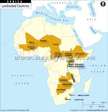africa map states landlocked countries in africa