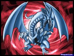 how to draw blue eyes white dragon step by step cartoons