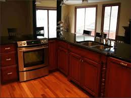 exciting red cherry cabinets kitchen