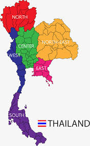 map of thailand modern color map of thailand map color map of thailand