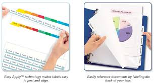21 images of easy apply label strips avery 5 tab template
