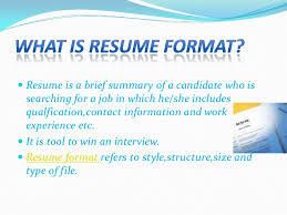 types of resume formats different kind of resume different