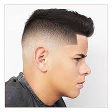 graduated mens haircut also high bald fade with line up and brush