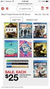 target black friday 2k17 2016 black friday retailer store deals games only na consoles