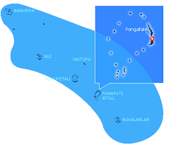 map of tuvalu charting the pacific places