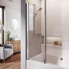Inward Opening Shower Door Lumin8 Inward Folding Bath Screen Uk Bathroom Solutions
