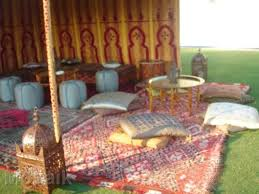Outdoor Moroccan Furniture by Corporate Moroccan Themed Party