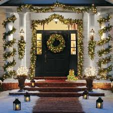 outdoor christmas garland with lights interesting outdoor christmas garland with lights spectacular decore