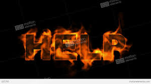 burning help word fire text stock animation 835795