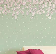 cherry blossoms tree stencil wall stencil large tree stencil