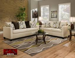 living room sofas coffee table and wall art in modern living