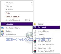 comment cr馥r un raccourci sur le bureau cr馥r raccourci bureau windows 8 28 images windows 8 1 afficher