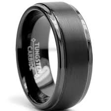 mens black titanium wedding rings 8mm black high matte finish men s tungsten ring wedding