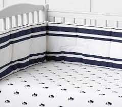 navy patterned crib bedding