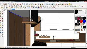 Kitchen Materials by 2 Tutorial Sketchup Vray Modelling Improving Kitchen