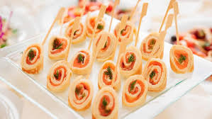 indian canapes ideas salmon rolls canape ideas schwartz