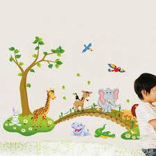 Wall Mural Dense Forests Peel Aliexpress Com Buy Cute Wallsticker For Kindergarten Wall Art