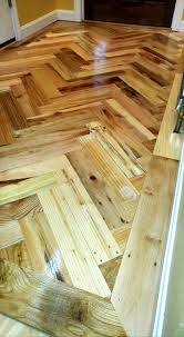 chevron wood pallet flooring part 2 101 pallet ideas
