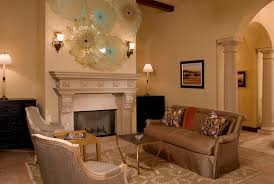 glass candle wall sconce living room traditional with vaulted
