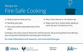 cooking safety outreach materials