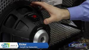 kicker compr car subwoofers the new cvr ces 2013 youtube
