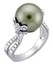 pearl and diamond engagement rings pretty pearl engagement rings martha stewart weddings