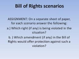 Bill Of Rights Worksheet Answers Bill Of Rights Scenarios