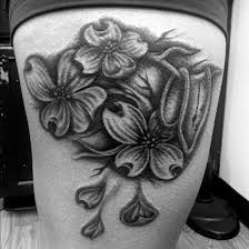exotic flower tattoos black and white pictures to pin on pinterest
