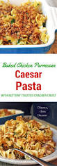 classic pasta salad baked chicken caesar pasta with buttery cracker crust dinner