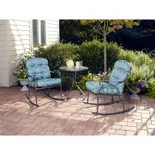 Patio Swing Chair Walmart Mainstays Willow Springs 3 Piece Rocking Outdoor Bistro Set Seats