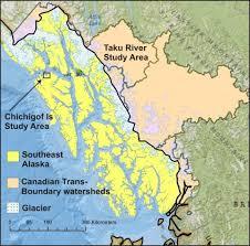 map of southeast canada southeast alaska canada trans boundary missing salmon streams