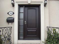 Exterior Door With Side Lights Entry Door Styles With Single Sidelite Front Door Pinterest