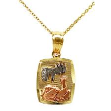 baptism necklace 14k tri color gold baptism pendant necklace free shipping today