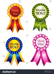 make thanksgiving cards elegant shiny award ribbon rosettes thank stock illustration
