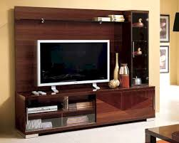 Wall Tv Cabinet Design Italian Modern Italian Entertainment Center In Walnut Finish 33e11