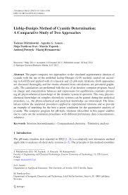 liebig u2013denigès method of cyanide determination a comparative