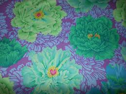 kaffe fassett philip jacobs brocade peony green purple fat quarter