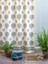 Country Themed Shower Curtains Shower Curtain Poppies Country Yellow Botanical