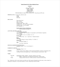 Job Application Resume Example by Application Template U2013 18 Free Word Excel Pdf Documents