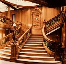 Titanic First Class Dining Room Grand Staircase Color This Image Copyright R G Whiteside Used