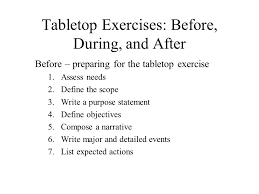 Table Top Exercise by Designing And Conducting Exercises To Implement And Test Your Erp