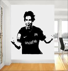 popular wall sticker stencil buy cheap wall sticker stencil lots removable football star lionel messi stencil wall stickers for kids room decor china mainland