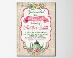tea party bridal shower invitations bridal shower tea etsy