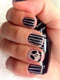 jack the skeleton halloween nails black and white opi