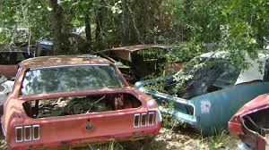 mustang salvage yard junkyard cars cars barn finds rods and